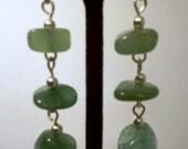 Green Aventurine Dangle Drop Earrings