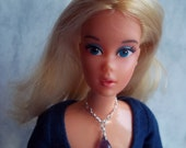 Genuine Amethyst and Sterling Silver Barbie Necklace