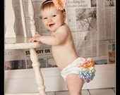Pastel Rainbow Mini Ruffle Panty Diaper Cover Bloomers Fancy Pants