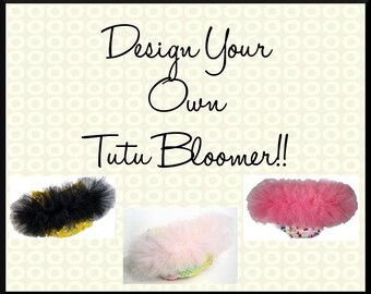 Design Your Own Tutu Bloomer Diaper Cover Pettipants