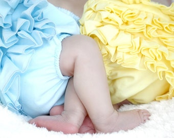 Yellow Mini Ruffle Panty Diaper Cover Bloomers Fancy Pants