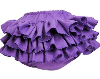 Purple Ruffle Diaper Cover Ruffle Bloomer Pants Panty