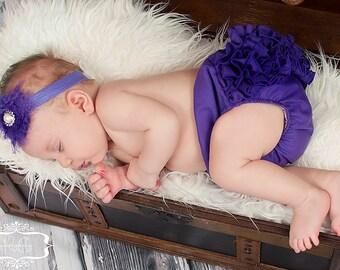 Purple Mini Ruffle Panty Diaper Cover Bloomers Fancy Pants