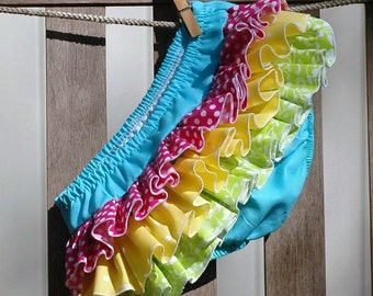 Ruffle Diaper Cover Ruffle Bloomer Panty Hot Pink Lime Yellow Turquoise