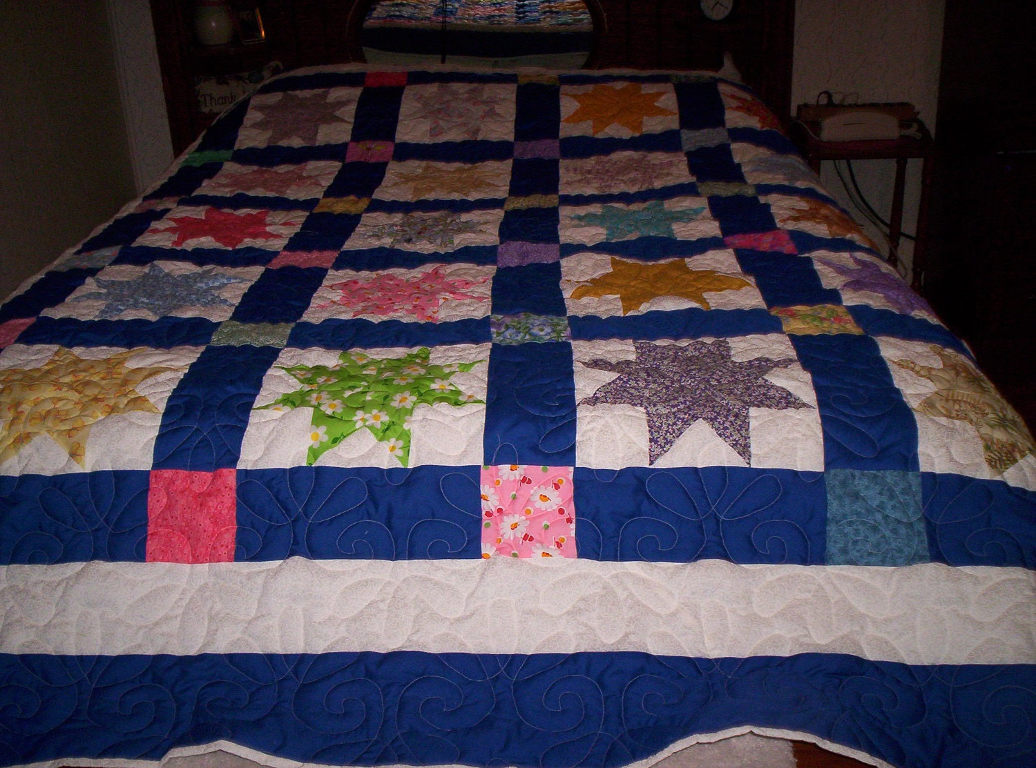 Old Fashioned 8 Pointed Star Quilt By Paydownpatchwork On