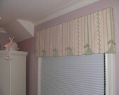 Cottage Chic Window Valance with Inverted Box Pleats