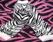 Black/White Zebra Leg Warmers