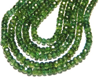 "14"" inch line 4.5  to 5mm Amazing GREEN APATITE gemstone beads"