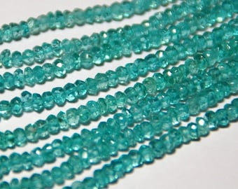 "SALE 7"" 3.5mm AAA APATiTE beads Paraiba blue color"