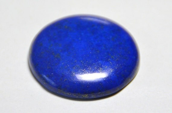 34mm round SPECIAL OFFER AAA Grade LAPiS LAZULi cabochon 83t 34mm round by 6.5mm.