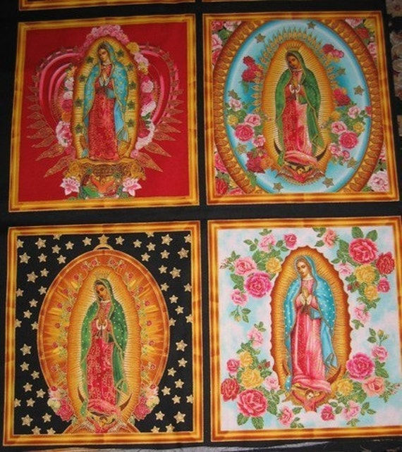 Our Lady of Guadalupe- Virgin Mary Cotton Fabric Panels