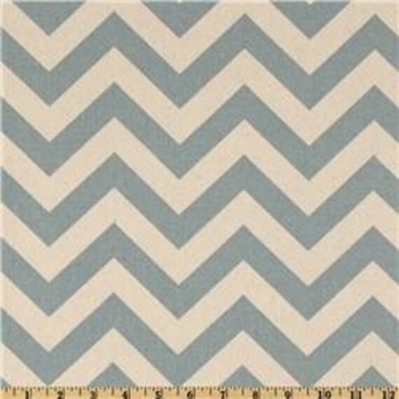 Zig Zag Village Blue/Natural Home Decor Fabric