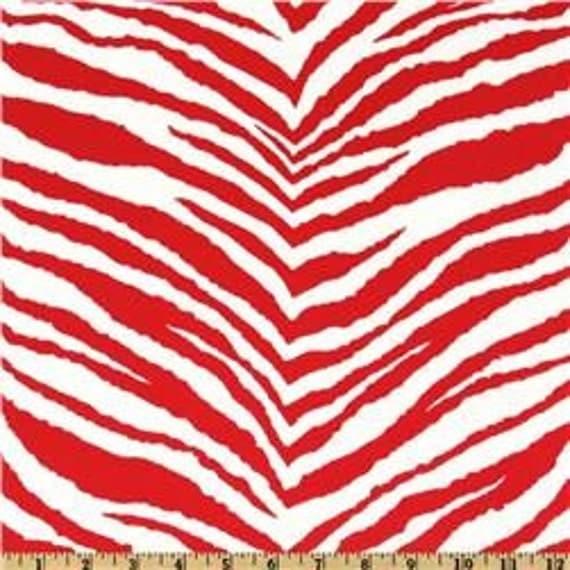 Lipstick Red/White Zebra Premier Print Madison Home Decor