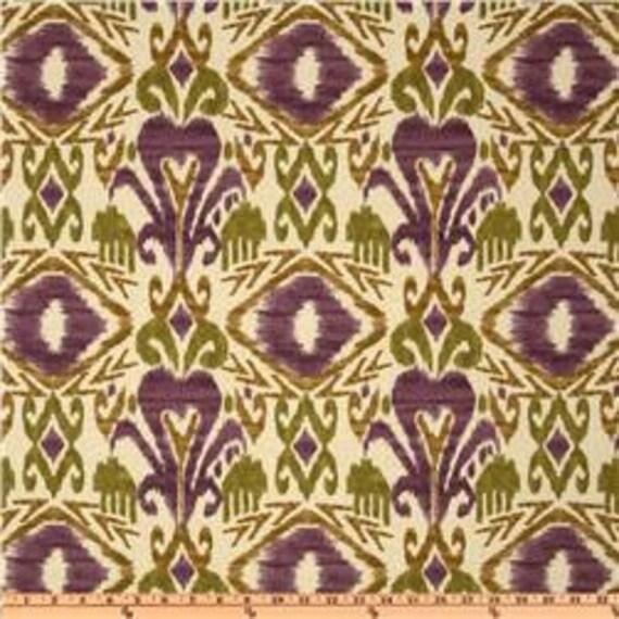 Richloom Solarium Indoor/Outdoor Sumter Ikat Vineyard - Home Decor Fabric