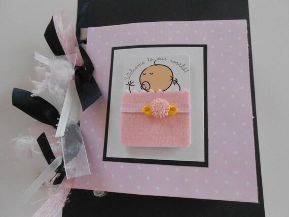 Baby girl paper bag premade album