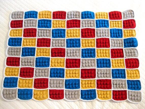 Crochet Lego Blanket Pattern