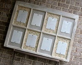 Sale 15% off Salvaged, Distressed Old Window with 5 x 7 Picture Frames Picture Frame