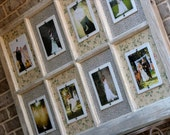Reserved Customized  Listing For Lauren Two Salvaged, Distressed Old Window with 5 x 7 Picture Frames Picture Frame