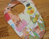 Sesame Street Bib: Vintage Bert fabric (baby size 12-24 months)