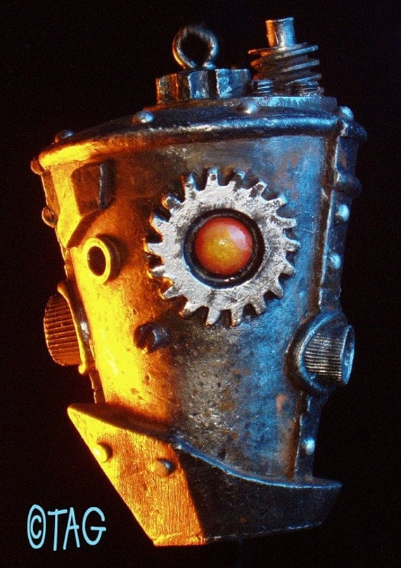 Steampunk Robot Ornament by Tom Taggart