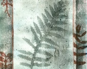 ooak monoprint botanical study fern