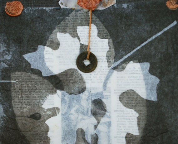 ooak collage, Veiled Madonna