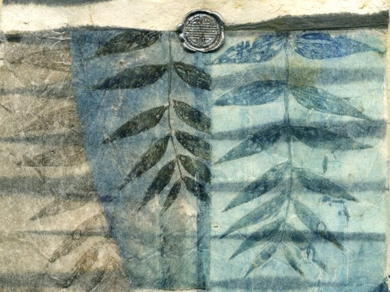 Veiled Promise, ooak collage on handmade paper