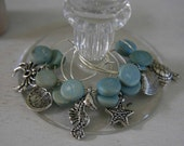 Wine CHarms - UNDER THE SEA Silver Tone Assortment Set of Six