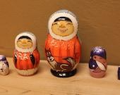 Nesting doll Alaska russian matryoshka dolls set of 5