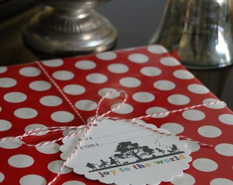 PDF Holiday Christmas Gift Tags - DIY - Print as many as you need
