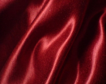 Red Silk Satin Hemp Cloth 3yds Gryffindor Fabric Home Decor Dress Sewing Craft Crimson Ruby Scarlet Machine Washable Material Spring Crafts