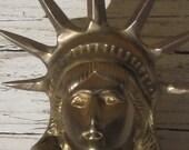 1950's Brass Statue of Liberty Bust