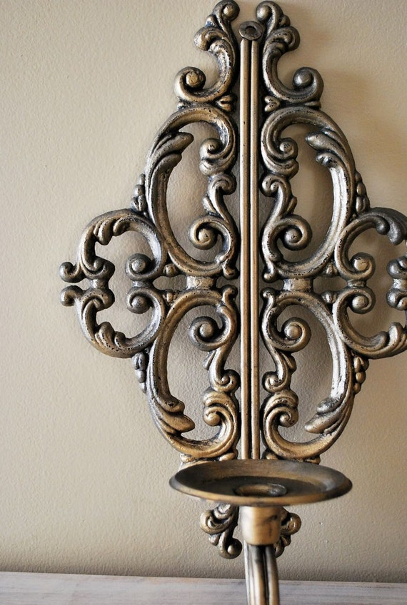 Rustic French Wall Lights : Ornate Rustic French Tuscan Wall Sconces set of 2 for