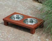 Raised Dog Bowl in Cherry (Ex Small)