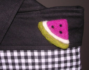 Slice of Watermelon Felted Pin