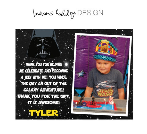 DIY, Star Wars Thank You Cards