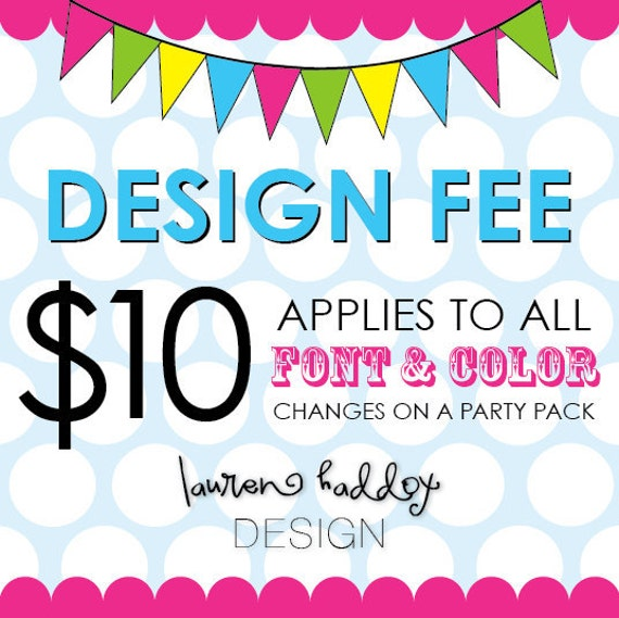 Design Fee, PARTY PACK