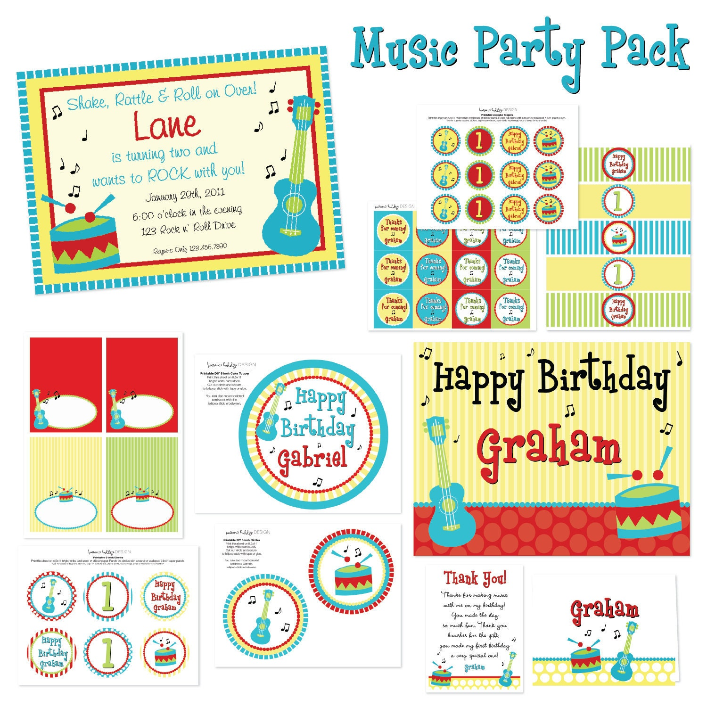 Music Birthday Guitar Birthday Music Birthday Party Music