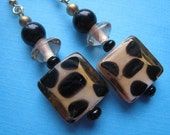 The Fiesty Cheetah Tile Earrings