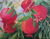 Pomegranates Print, Pomegranates Painting, Kitchen Wall Art, Fruit Print Fruit Watercolor Kitchen Home Decor Fruit Wall Art Fruit Home Decor