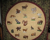 Northwest Wildlife A wallhanging that looks like a clock  free shipping to US