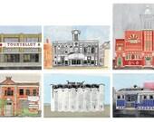Buildings from Providence, RI - Postcard Set