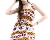 Red and Yellow Tank Dress