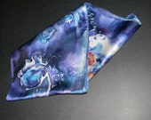 Charmeuse Lingerie Weight Luxury 100% Silk Scarf with Royal Purple Dye FREE Shipping