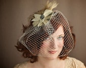 Sale Delightful Birdcage Veil with French Pinwheel Fascinator