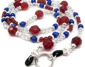 Red White and Blue ID Lanyard