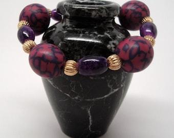Magenta Polymer Stretch Bracelet