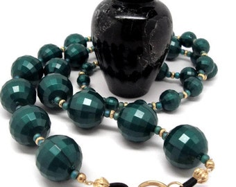 Vintage Green Disco Ball Beads Lanyard