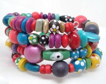 Fun Colors Memory Wire Bracelet