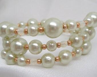 Pale Sea Green Memory Wire Bracelet